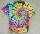 Batikované tričko Spider rainbow, L