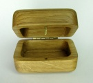 Dřevěná krabička zaoblená, dubová, sleva