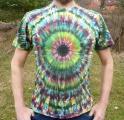 Batikované triko duhové Imagination, M