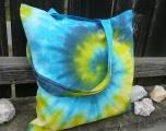 Látková taška Akvamarín, batika