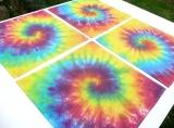 Prostírání na stůl - Duhové spirály - 40x40 (Sada 4ks)
