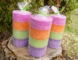 Vonná svíčka - veselá barevná s vůní Bonpari - válec