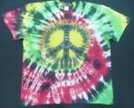 Tričko Hippies, ruční batika, XL