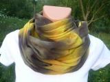 Přírodní šátek - tunel na krk, batika