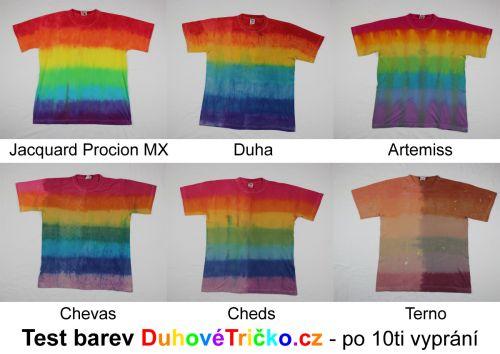 Výsledek testu batikovacích barev