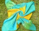 Šátek (malý) ručně batikovaný, Azuro