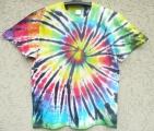Batikované triko Spider rainbow, XL