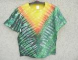 Pánské batikované tričko Slunce v buši, L