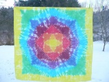 Ubrus, dekorace, tapisérie - originální batika - 140x140