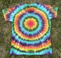 Dámské batikované tričko Spektrum zepředu, XL