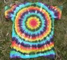 Dámské batikované tričko Spektrum zezadu, XL