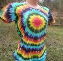 Dámské batikované tričko Spektrum ze strany, XL