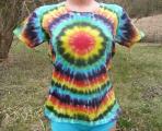 Dámské batikované tričko Spektrum XL
