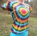 Dámské batikované tričko Spektrum ze strany, L