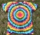 Dámské batikované tričko Spektrum zezadu, L