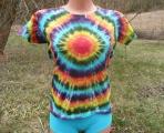 Dámské batikované tričko Spektrum L
