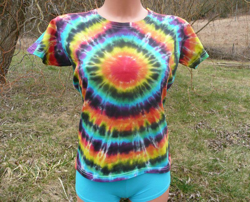 Dámské batikované tričko Spektrum zepředu, L