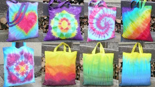 Látkové nákupní tašky duhové