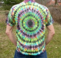 Batikované triko duhové Imagination zezadu, XL