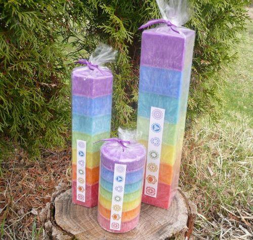 Barvy čaker svíčky