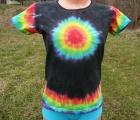 Dámské batikované tričko Duhovka L
