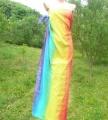 Duhové pareo šaty na léto