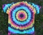 Batikované tričko duhové Iris, XL zepředu