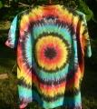 Batikované tričko duhové Iris, XL zezadu