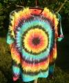 Batikované tričko duhové Iris, XL