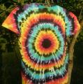Dámské batikované tričko Iris, L zezadu