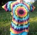 Dámské batikované tričko Iris, L zepředu