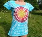 Dámské blankytné tričko Slunce, L