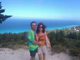 Duhová trička s Majdou a Pavlem na dovolené v Řecku :-)