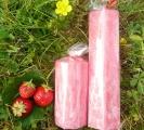 VONNÁ svíčka JAHODA šestihran 5x17cm Supeko
