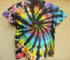 Dámské tričko duhové batikované Rebelka, XL zezadu