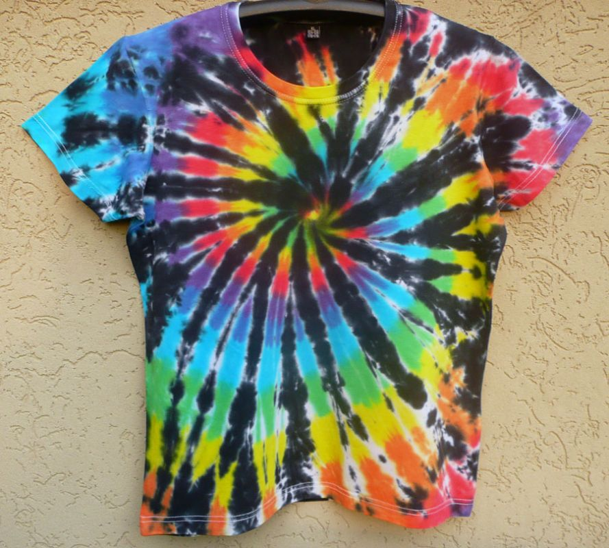 Dámské tričko duhové batikované Rebelka, XL