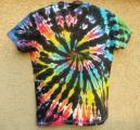 Dámské tričko duhové batikované Rebelka, XXL zezadu