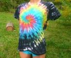 Dámské tričko Zrození Duhy, batika, XL