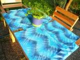 Prostírání Nebeské, originální batika - Sada (běhoun+4ks)
