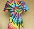 Batikované tričko duhové Rebel, M Šťastní lidé-V