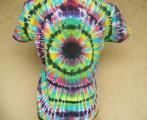 Dámské batikované tričko Imagination XL Šťastní lidé-V