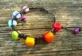 Náramek z vinutých perel Duhový Šťastní lidé-M