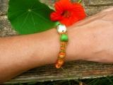 Náramek z dřevěných korálků Tutti frutti Šťastní lidé-M