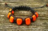 Náramek z vinutých perel oranžový