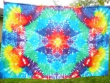 Duhová mandala batika