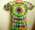 Dámské batikované tričko Imagination XXL Šťastní lidé-V