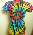 Dámské tričko duhové batikované Rebelka, L Šťastní lidé-V