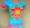 Dámské tričko Květina, batika, M