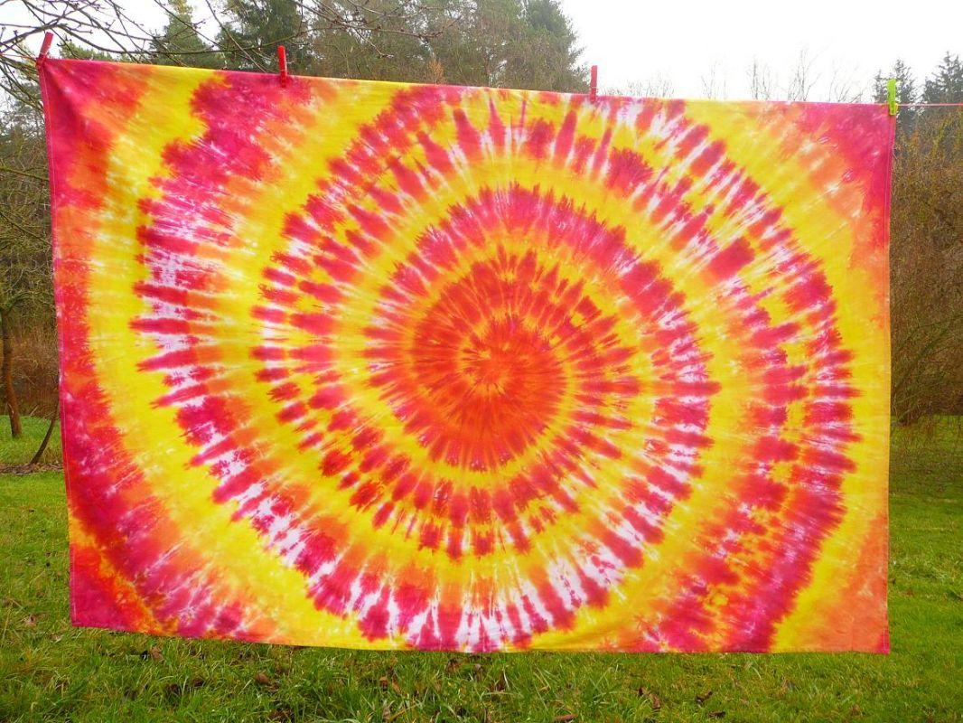 Ubrus z pevné bavlněné látky Ohnivý 120x180 Šťastní lidé-M