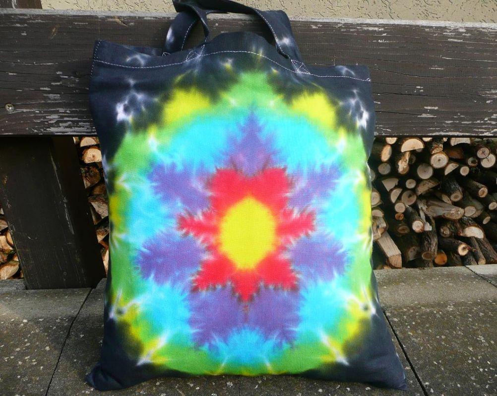 Batikovaná taška s mandalou